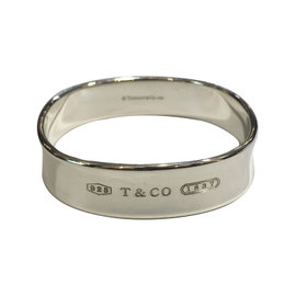 Tiffany & Co. 925 Sterling Silver 1837 Collection Square Bangle Bracelet