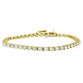 14K Yellow Gold 5ctw. Round Cut Diamond Bracelet