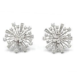 Bulgari Fireworks Diamond Earrings 18 Karat White Gold
