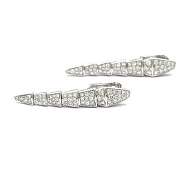Bulgari Serpenti Earrings In 18 Karat White Gold With Diamonds