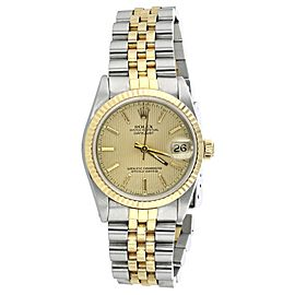 Rolex Datejust 68273 Stainless Steel And 18K Yellow Gold 31mm Unisex Watch