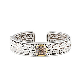 Sterling Silver And Brown Diamond Cuff