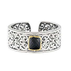 Sterling Silver And Spinel Cuff Bracelet