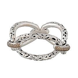 Ivy Three Link Bracelet With Brown Diamond