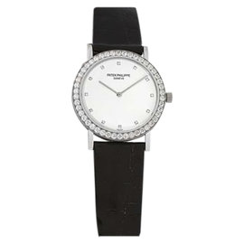 Patek Philippe Calatrava 5006G 18K White Gold 33mm Womens Watch