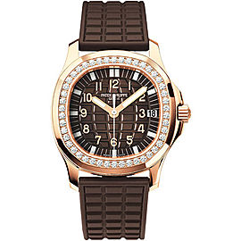 Patek Philippe Aquanaut 18K Rose Gold with Diamond Automatic 35.2mm Womens Watch