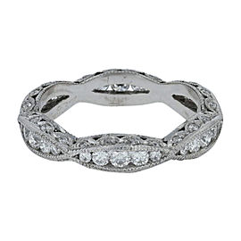 Tacori 18K White Gold Diamond Ring Size 6.5