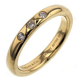 TIFFANY & Co. 18k yellow Gold/diamond Stacking band Ring