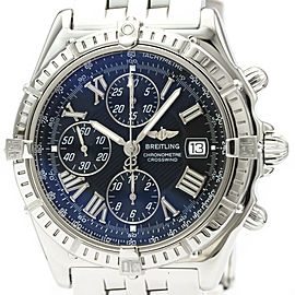 Polished BREITLING Crosswind Chronograph Steel Automatic Watch A13355