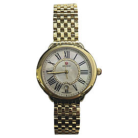 Michele Serein MW21b01b0963 18K Yellow Gold Quartz 34mm Womens Watch