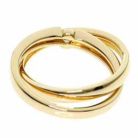4℃ Diamond 18k Yellow Gold Double Ring