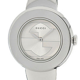 GUCCI U play 129.5 Silver Dial SS Quartz Ladies Watch
