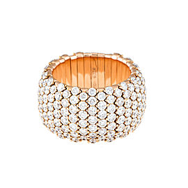 Stretch Collection 18K Rose Gold Diamonds Ring