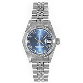 Rolex Datejust 69160 Stainless Steel Dark Blue Dial 26mm Womens Watch
