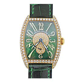 Franck Muller Casablanca Cintree Curvex Gold Diamond Watch 7502 S6D CD