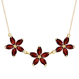 4.2 CTW 14K Solid Gold Necklace Natural Garnet