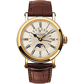 Patek Philippe 5159J 18K Yellow Gold & Leather 38mm Mens Watch