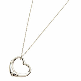 TIFFANY & Co. Silver Open Heart Large Necklace