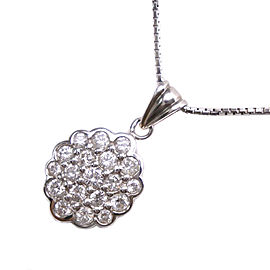Platinum/Platinum/diamond Necklace