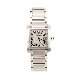 Cartier Tank Francaise Quartz Watch Stainless Steel 25