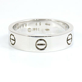 CARTIER 18K White Gold Band Love Ring CHAT-118