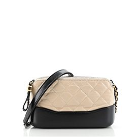 Chanel Gabrielle Double Zip Clutch with Chain Quilted Aged Calfskin
