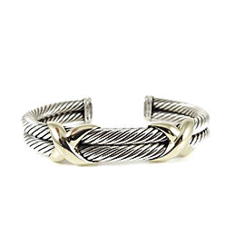 David Yurman Sterling Silver 14K Yellow Gold 2-Row XX Bracelet