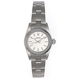 Rolex Oyster Perpetual 67180 Stainless Steel 25mm Womens Watch