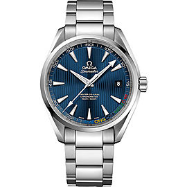 Omega Seamaster Aqua Terra Specialty Olympic Collection PyeongChang 2018 Limited Edition 52210422103001 Stainless Steel 41.5mm Automatic Mens Watch
