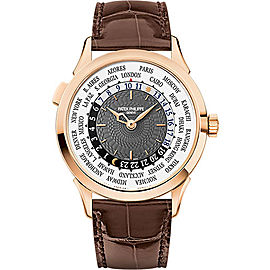 Patek Philippe 18K White Gold / Leather 38.5mm Mens Watch
