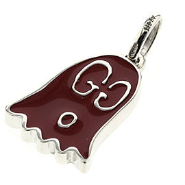 GUCCI ghost 925 Silver Red top Pendant TBRK-553