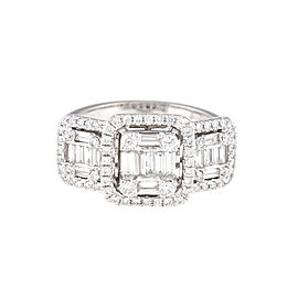 Mosaic Collection 18K White Gold Diamonds Ring