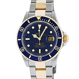 Rolex Submariner 16613 Stainless Steel & 18K Yellow Gold 40mm Mens Watch