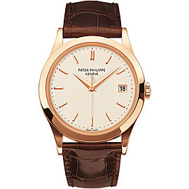 Patek Philippe Calatrava 5296R-010 18K Rose Gold Leather 38mm Mens Watch