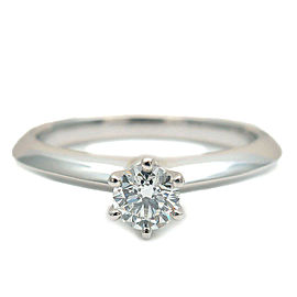 Tiffany & Co. 0.21ct Platinum Diamond Solitaire Ring