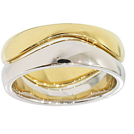 Cartier 18K White and Yellow Gold Love Me Ring Size 4.75