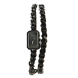Chanel So Black Premiere Rock Triple Row Quartz Watch Stainless Steel and Leather 16