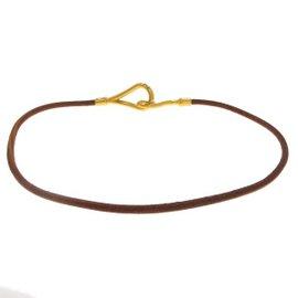 Hermes Gold Plated Jumbo Choker Necklace