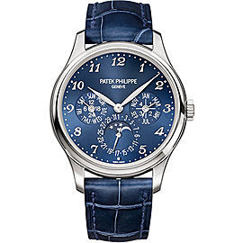 Patek Philippe 5327G 18K White Gold with Royal Blue Sunburst Dial 39mm Mens Watch