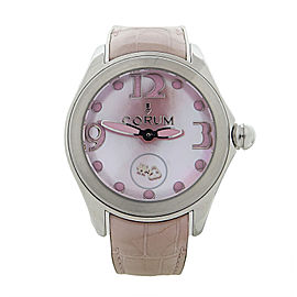Corum Bubble 295.100.20/0088 PN36 Stainless Steel Pink Mother Of Pearl Automatic 42mm Womens Watch