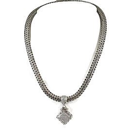 John Hardy 925 Sterling Silver & 18K Yellow Gold with Diamond Classic Chain Necklace