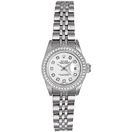 Rolex Datejust 69190 Stainless Steel White Dial 26mm Womens Watch
