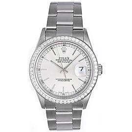 Rolex Datejust 16220 18K White Gold 26mm Womens Watch