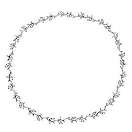 Tiffany & Co. 950 Platinum with 2.50ct. Diamonds Garland Choker Necklace