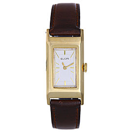 Elgin 14K Yellow Gold Dress Vintage 19mm Mens Watch
