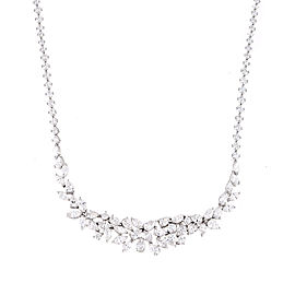 Unique Collection 18K White Gold Diamonds Necklace