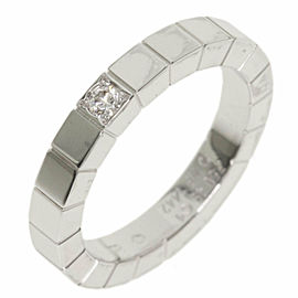 CARTIER 1P Diamond 18k White Gold Laniere Ring