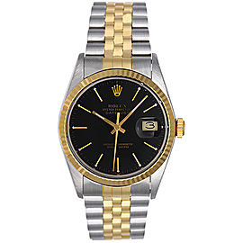 Rolex Datejust 16013 Stainless Steel And 18K Yellow Gold Automatic 36mm Mens Watch