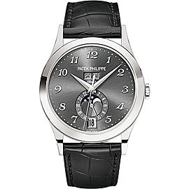 Patek Philippe 5396G-014 18K White Gold / Leather Automatic 38.5mm Mens Watch