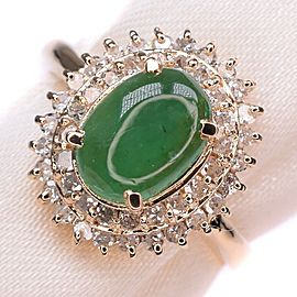 Emerald 18k yellow gold/Diamond Ring NST-395